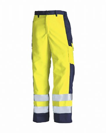 Blaklader 1583 High Visibility Trousers (Yellow/Navy)
